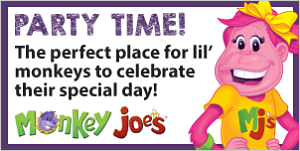 Monkey Joe's April Banner (Apr 2 @ 10 am-31, 2021)
